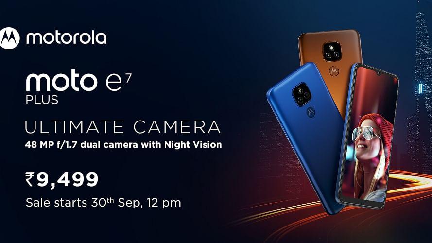 Moto E7 Plus लॉन्च : 5000mAh बैटरी और 48MP कैमरा के साथ आया 10 हजार रुपये से सस्ता स्मार्टफोन
