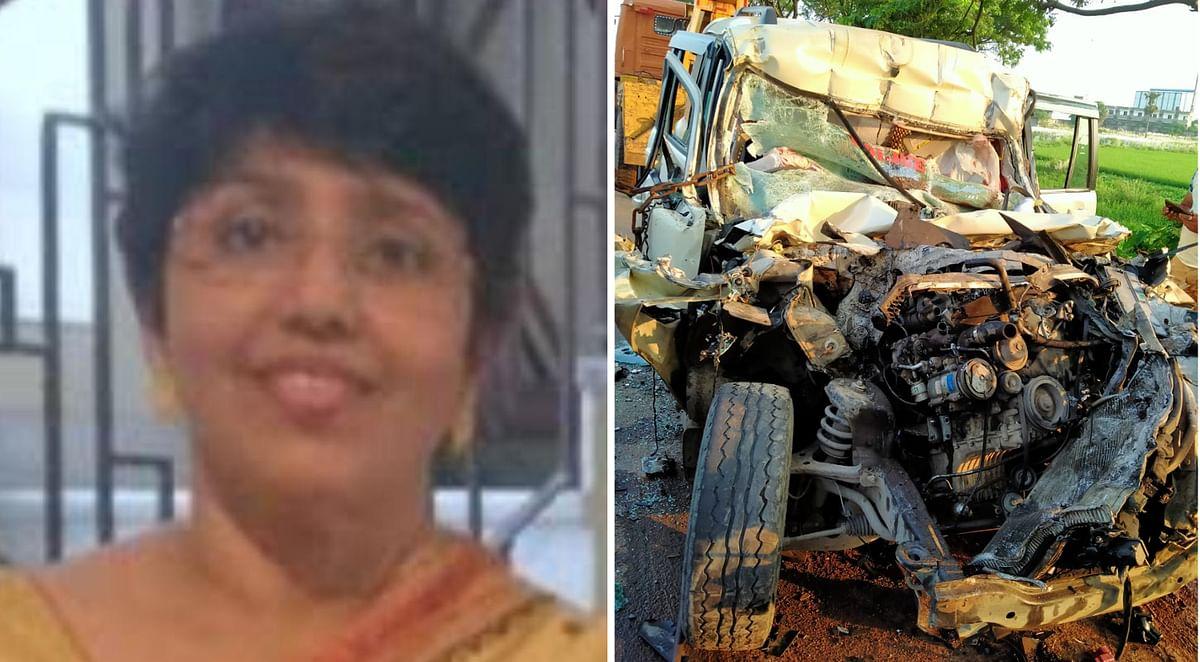 हादसे में कोलकाता पुलिस की पहली महिला इंस्पेक्टर देवश्री चट्टोपाध्याय समेत तीन पुलिसकर्मियों की मौत