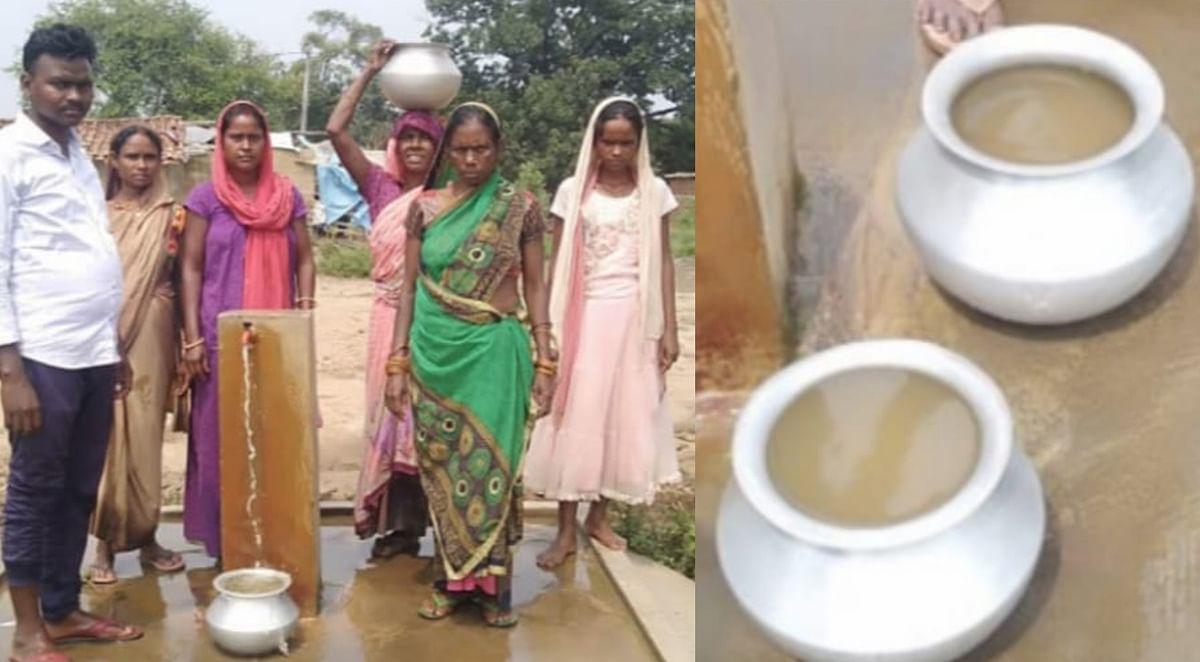 इंदिरा गांव में लाल पानी पीने के लिए क्यों मजबूर हैं लोग?