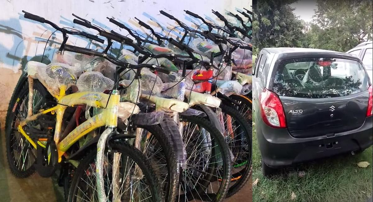 झारखंड के शिक्षा मंत्री ने खरीदी ऑल्टो कार, बाइक और साइकिलें