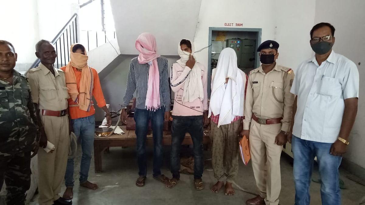 Jharkhand News : अपराधियों के खिलाफ चलाया जा रहा अभियान, पलामू से चार अपराधी गिरफ्तार