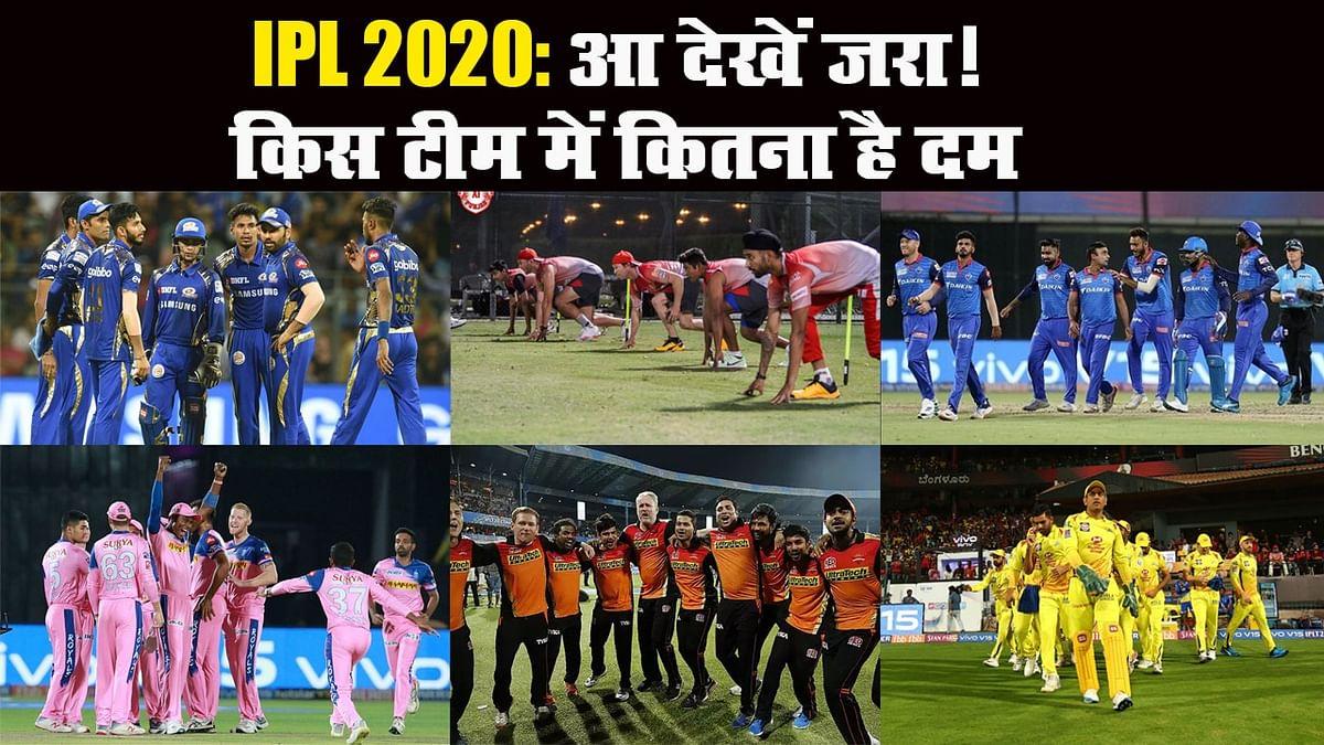 IPL 2020: किस टीम में कितना दम, किसकी क्या कमजोरी