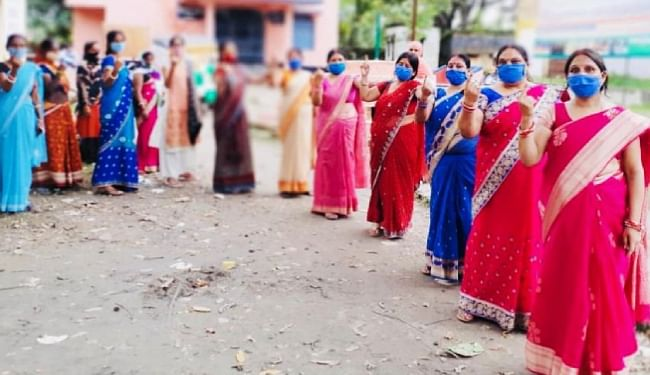 भागलपुर में 'मेरा वोट मेरा अधिकार' के तहत लोगों को किया गया जागरूक