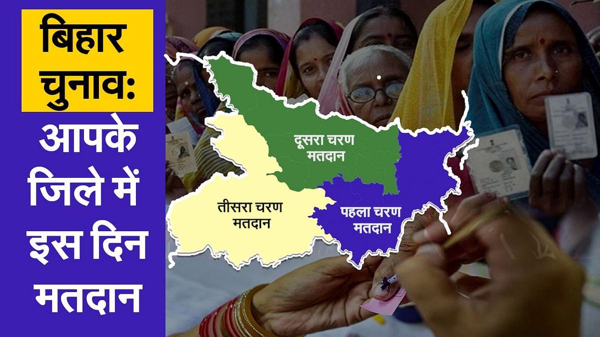 बिहार चुनाव 2020: आपके जिले में इस दिन होगा मतदान