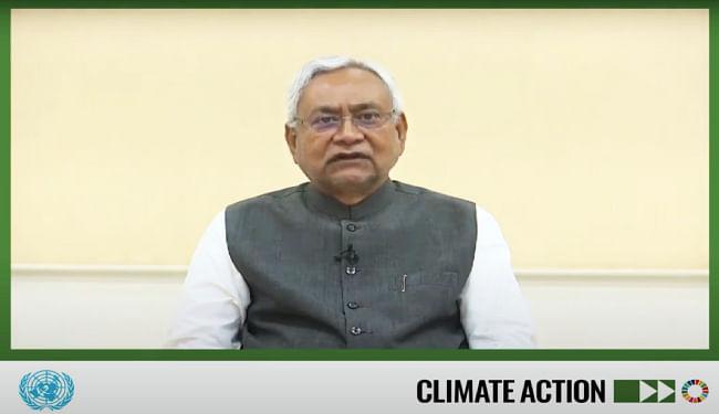 संयुक्त राष्ट्र ने नीतीश कुमार को बताया 'क्लाइमेट लीडर', मुख्यमंत्री ने किया बिहार के जलवायु परिवर्तन पर रणनीति को साझा