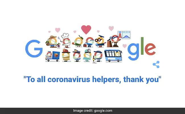Thank You Coronavirus Helpers: गूगल ने डूडल बनाकर कोरोना वॉरियर्स को किया सलाम