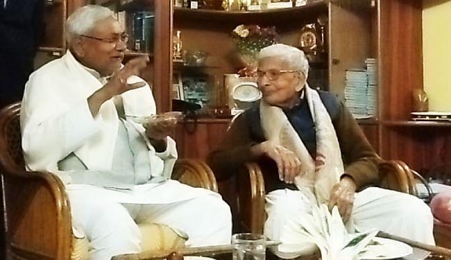 राजकुमार वैश्य से मुलाकात करने पहुंचे थे मुख्यमंत्री नीतीश कुमार