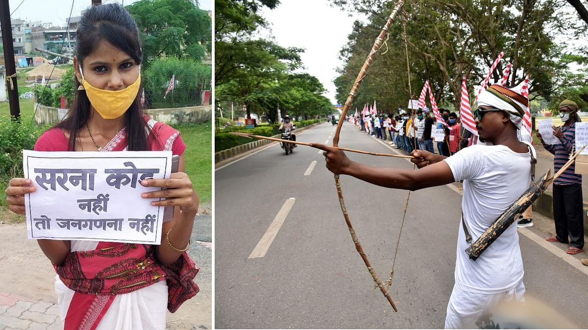 झारखंड के आदिवासियों ने दी जनगणना रोकने की धमकी, मानव शृंखला बनाकर हेमंत सोरेन से की सरना कोड की मांग