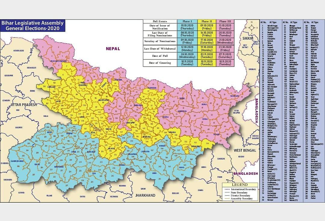 Bihar Vidhan Sabha Election Date 2020 : दरभंगा में छह सीटों पर राजग व चार सीटों पर महागठबंधन की प्रतिष्ठा दांव पर, कुछ सीटों पर रस्साकशी