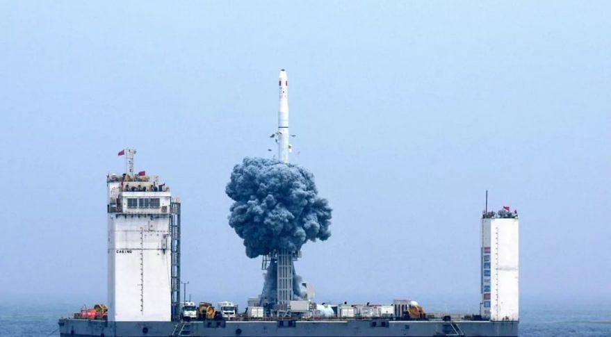 चीन से पानी जहाज से नौ सैटेलाइट का किया सफल प्रक्षेपण