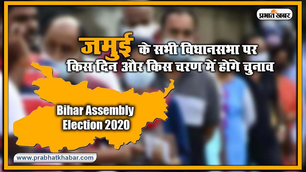 Bihar Vidhan Sabha Election Date 2020 : जमुई के सभी विधानसभा पर किस दिन और किस चरण में होंगे चुनाव, यहां देखिए लिस्ट