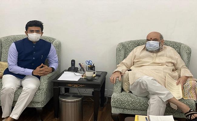 Bihar Election 2020: बिहार दौरे से ठीक पहले अमित शाह से मिले युवा मोर्चा के नए अध्यक्ष तेजस्वी सूर्या, जानें क्यों माने जाते हैं प्रभावशाली...