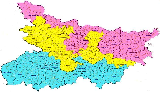 पहले चरण की 71 सीटों में राजद है बड़ी पार्टी, दूसरे चरण में एनडीए का है दबदबा, तीसरे चरण में जेडीयू-बीजेपी की प्रतिष्ठा होगी दांव पर