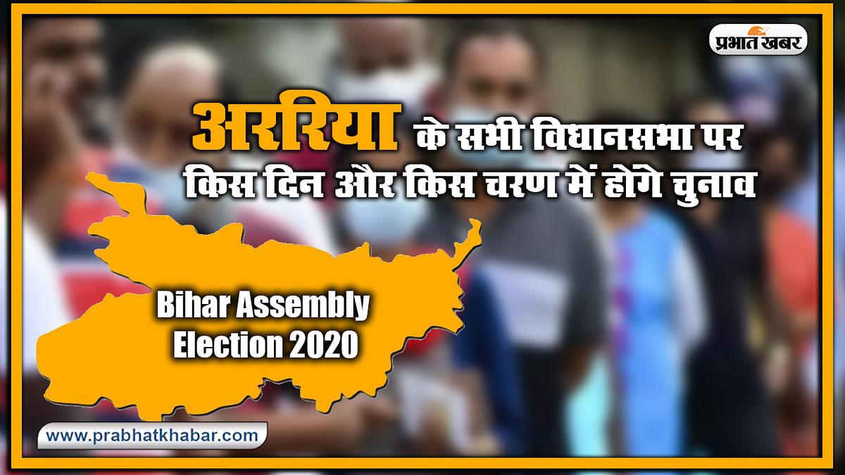 Bihar Vidhan Sabha Election Date 2020 : अररिया के सभी विधानसभा पर किस दिन और किस चरण में होंगे चुनाव, यहां देखिए लिस्ट