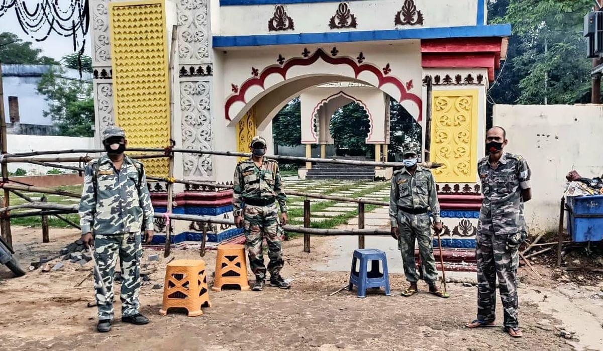 रजरप्पा मंदिर के खुलने के पहले दिन से ही की गयी थी सुरक्षा की कड़ी व्यवस्था.