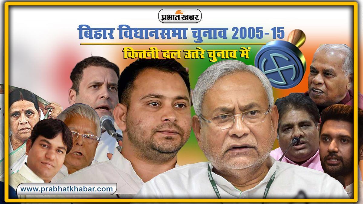 Bihar Vidhan Sabha Chunav Itihas : पिछले चुनाव में भाग्य आजमाने उतरे थे 159 छोटी-बड़े राजनीतिक दल, 2005-15 तक बढ़ गये 100 दल