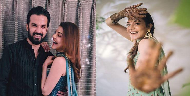 Kajal Aggarwal Wedding : काजल अग्रवाल ने लगाई अपने हाथों में महबूब की मेहंदी, सोशल मीडिया पर Viral होने लगी मेहंदी सेरेमनी की Photos