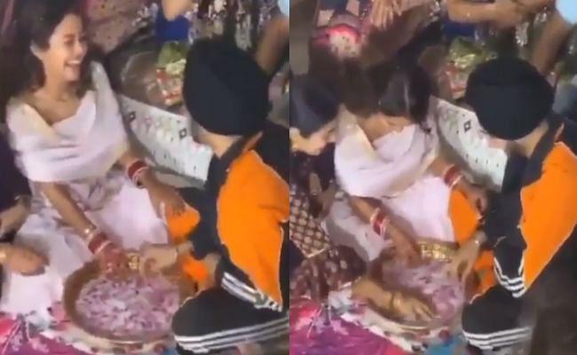 ससुराल में नेहा ने खेला रोहनप्रीत संग अंगूठी ढूंढ़ने वाला रस्म, VIDEO देखकर जानिए किसकी हुई जीत