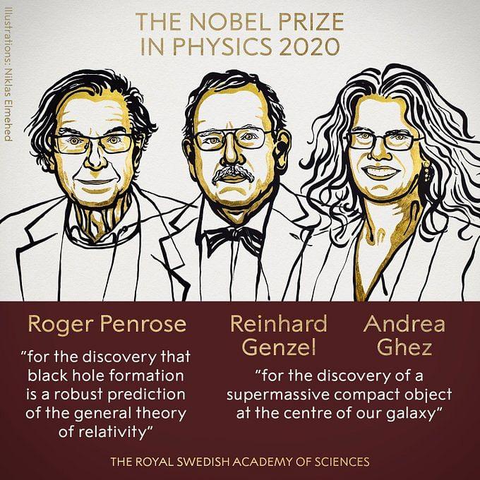 Nobel Prize 2020 : 'ब्लैक होल' के राज बताने वाले तीन वैज्ञानिक नोबेल पुरस्कार से सम्मानित, अमेरिका की महिला साइंटिस्ट को भी सम्मान
