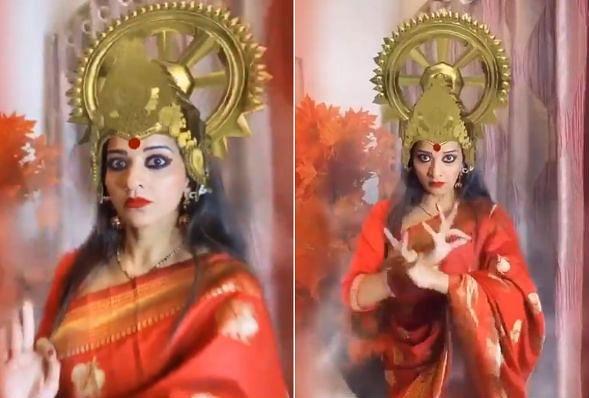 नवरात्रि पर दुर्गा अवतार में नजर आईं भोजपुरी एक्ट्रेस मोनालिसा, फैंस ने तारीफ के साथ कह दी ये बात, VIDEO