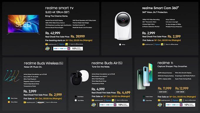 Realme SLED 4K Smart TV लॉन्च; नया साउंडबार, स्मार्ट कैमरा और टूथब्रश भी पेश, जानें कीमत और फीचर्स