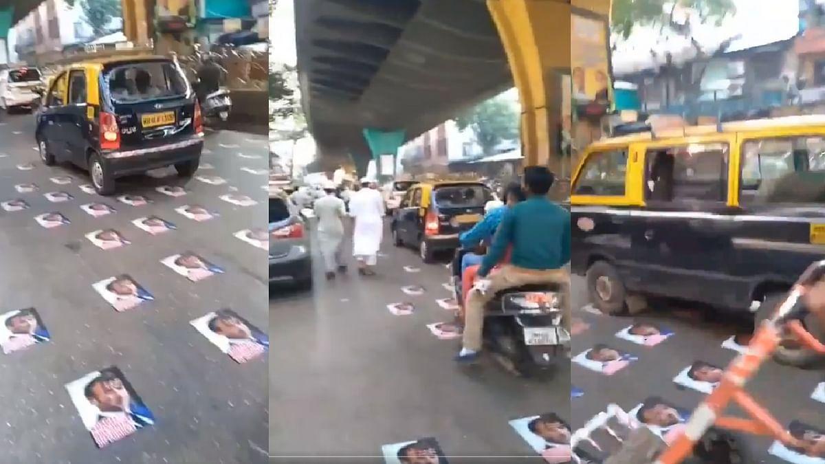 फ्रांस के विरोध में मुंबई में प्रदर्शन - सड़क पर बिखरी थी राष्ट्रपति की तस्वीर, पुलिस ने हटाया