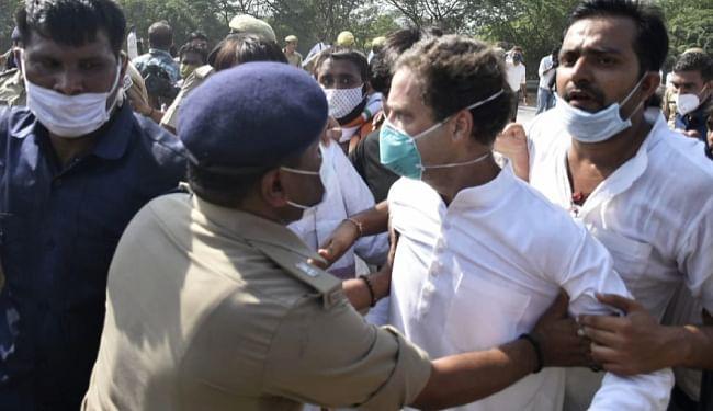 Hathras Case : हाथरस कांड पर तेज हुई सियासत, राहुल-प्रियंका समेत 203 कांग्रेसी  नेताओं पर एफआईआर