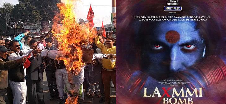 Laxmmi Bomb पर होने लगी कॉन्ट्रोवर्सी, लव जिहाद फैलाने का इल्जाम, हिंदू सेना ने की फिल्म को बैन की मांग