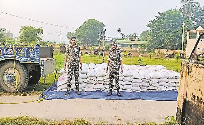चीन से नेपाल के रास्ते भारत भेजा जा रहा था जानलेवा नकली मटर का खेप, एसएसबी जवानों ने किया जब्त