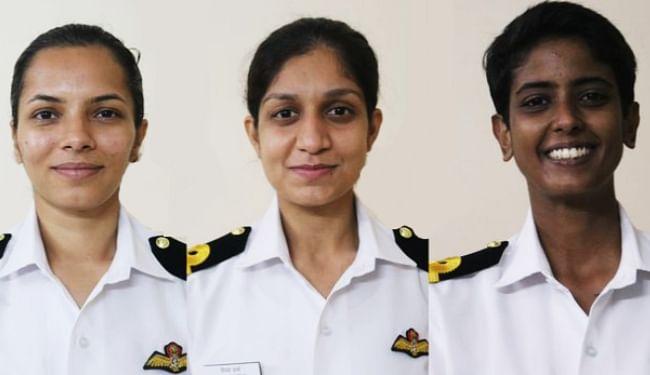 नौसेना में समुद्री उड़ान को तैयार मुजफ्फरपुर की शिवांगी और यूपी की शुभांगी समेत तीनों महिला पायलट