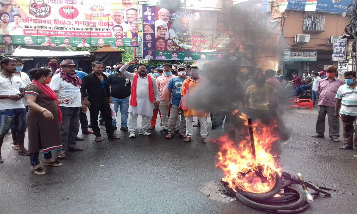 भाजपा नेता की हत्या के विरोध में बंगाल में बवाल, कई जगह प्रदर्शन, बैरकपुर रहा बंद