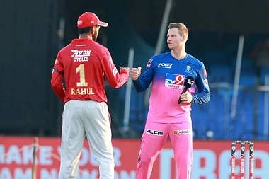 IPL 2020 Punjab vs Rajasthan LIVE Updates : तूफानी पारी खेलकर बेन स्ट्रोक आउट, RR 73/1 (7.3)