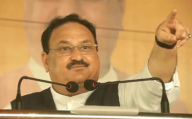 Bihar Chunav 2020: BJP अध्यक्ष का राजद पर बड़ा हमला, रैली में कहा-बाहुबल चाहिए या विकास बल?