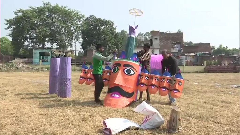 लखनऊ में रावण के साथ- साथ कोरोना का भी होगा दहन, ऐतिहासिक ऐशबाग मैदान में की गई ऐसी तैयारी