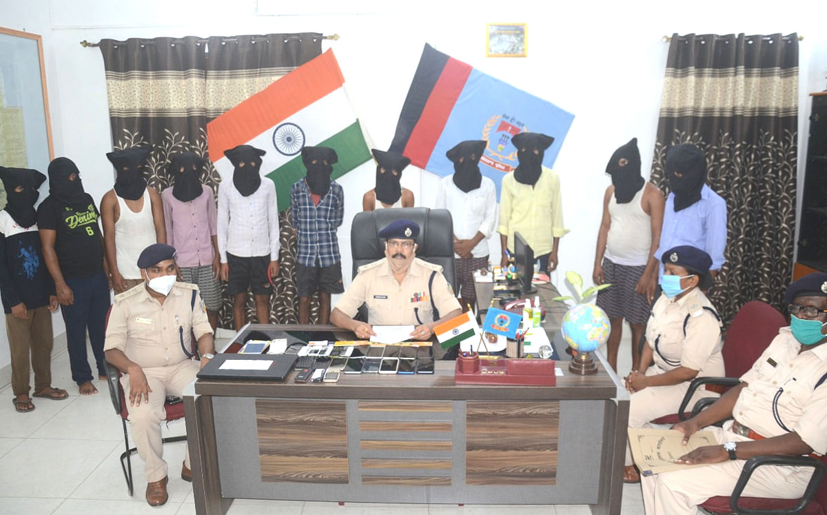 देवघर से फिर 11 साइबर अपराधी पुलिस के हत्थे चढ़े, ऐसे बनाते हैं लोगों को कंगाल