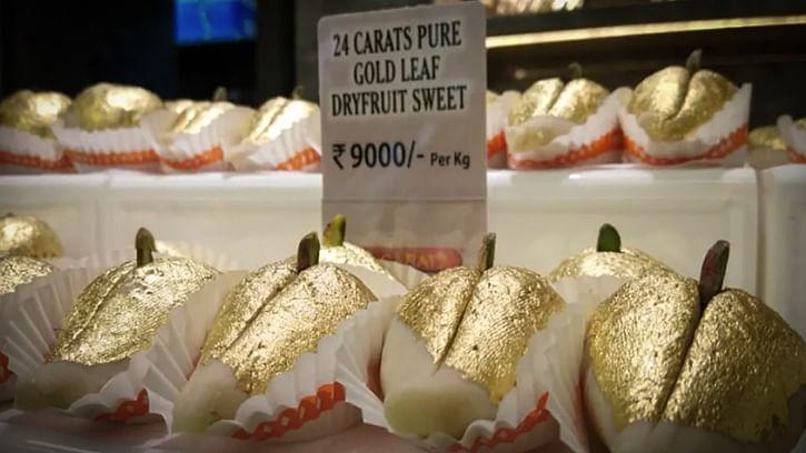 9,000 प्रति किलो बिक रही ये Gold Sweet, सूरत के मिठाई दुकानदार ने की लांच, जानें आयुर्वेद में क्यों सोने को कहा जाता सेहतवर्धक