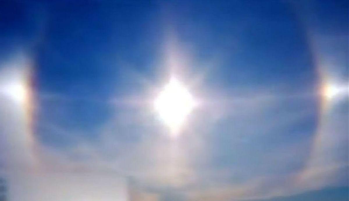 चीन में चमत्कार : आसमान में एक साथ दिखाई दिए तीन-तीन सूर्य, देखिए सोशल मीडिया पर वायरल Video..