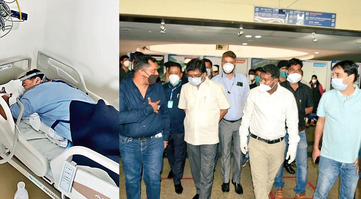 कोरोना संक्रमित शिक्षा मंत्री की सेहत स्थिर, स्वास्थ्य मंत्री के साथ CM हेमंत सोरेन पहुंचे मेडिका अस्पताल