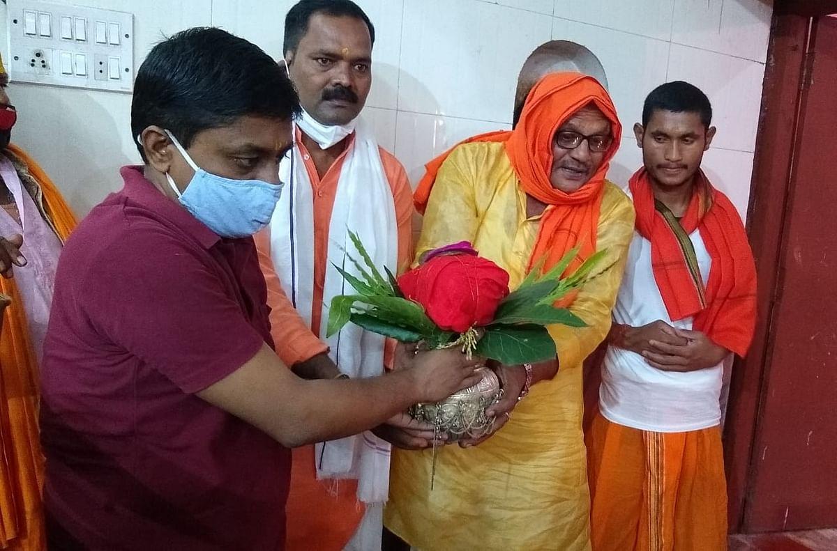 नवरात्र के पहले दिन मां भद्रकाली के मंदिर में कलश की स्थापना हुई.