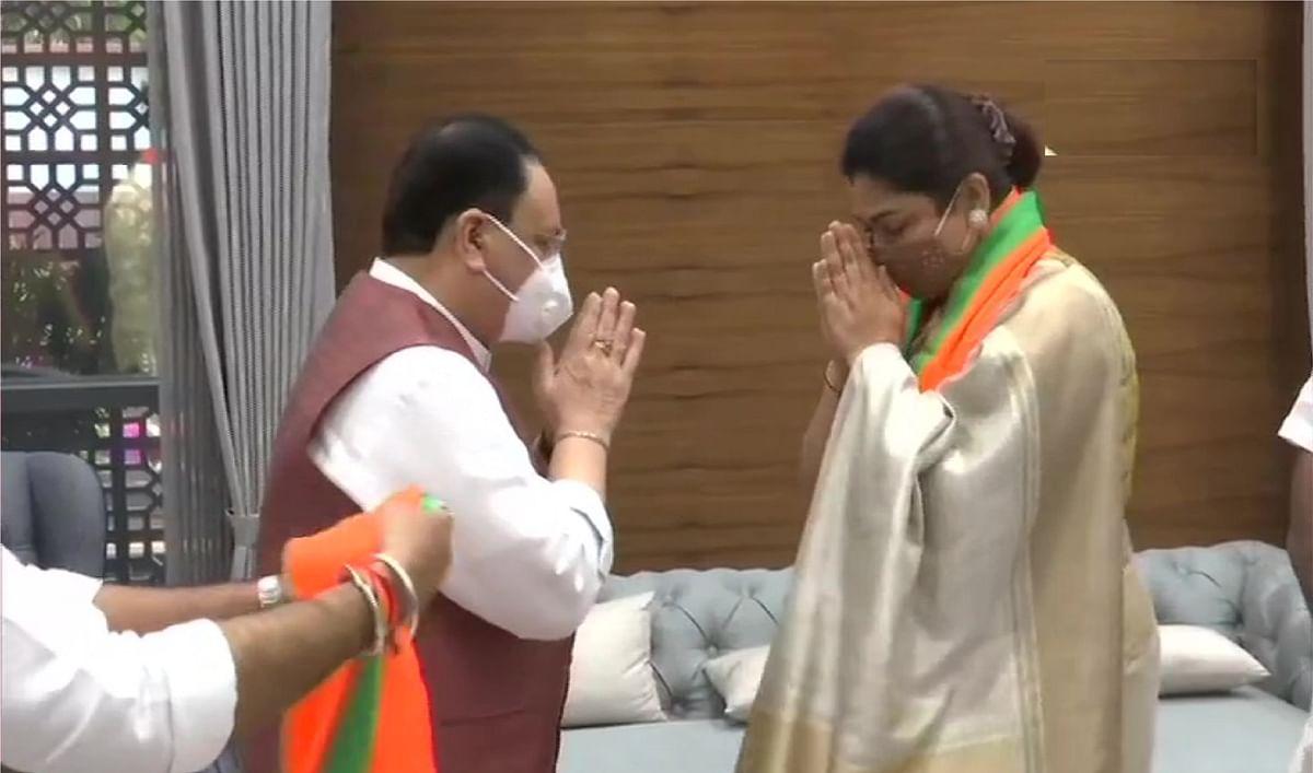 कांग्रेस छोड़ दक्षिण भारत की अभिनेत्री खुशबू सुंदर ने थामा भाजपा का दामन कहा, पीएम मोदी से प्रभावित हुई