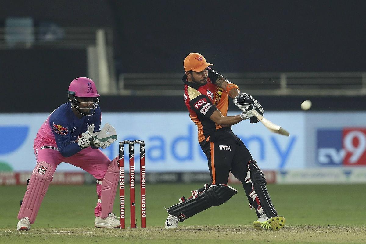 IPL 2020, RR vs SRH : मनीष पांडे की तूफानी पारी, हैदराबाद ने राजस्थान को 8 विकेट से हराया