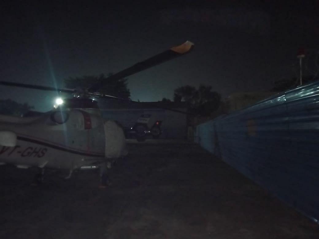 पटना एयरपोर्ट पर हादसे का शिकार हुआ हेलिकॉप्टर