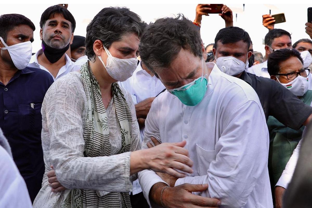 राहुल गांधी के हाथ में लगी चोट