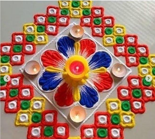 Diwali Rangoli Designs 2020 Images: लक्ष्मी-गणेश पूजा से पहले बनाएं सरल रंगोली डिजाइन, यहां से चुनें अपनी पसंद के कलरफुल रंगोली