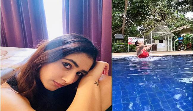 Bigg Boss 14 के कंटेस्टेंट राहुल वैद्य की गर्लफ्रेंड दिशा परमार ने लगाई स्वीमिंग पूल में डुबकी, Viral हो रहा है Video