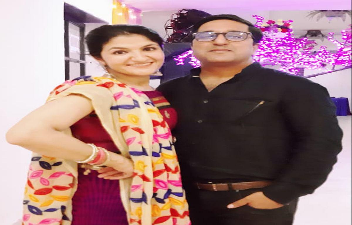 Jharkhand news : पत्नी प्रियंका लांबा के साथ चास मेन रोड निवासी राहुल लांबा.