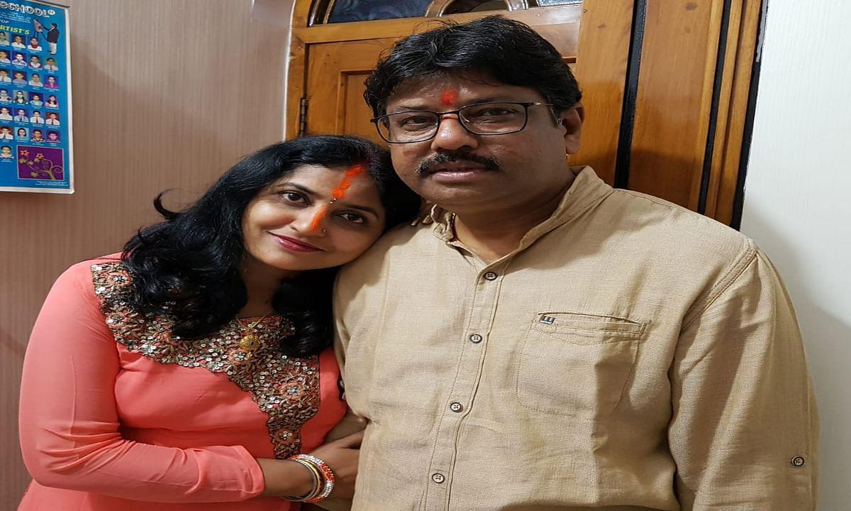 Jharkhand news : पति महेश गुप्ता के साथ सिटी सेंटर सेक्टर -4 निवासी अलका गुप्ता.