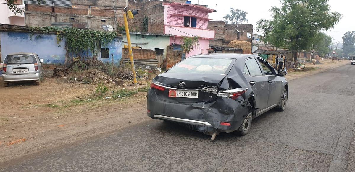 बिहार जा रहे झारखंड हाईकोर्ट के चीफ जस्टिस के काफिले में शामिल कार दुर्घटनाग्रस्त, दो सुरक्षाकर्मी घायल