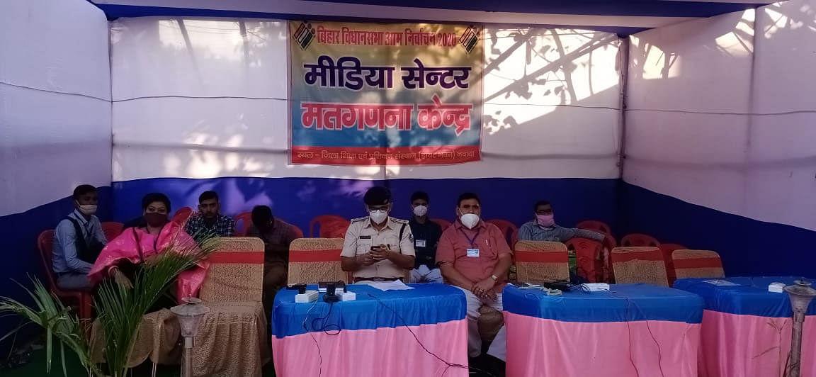 नवादा के गोविंदपुर और हिसुआ विधानसभा क्षेत्र की गणना डाइट केंद्र पर हो रही है