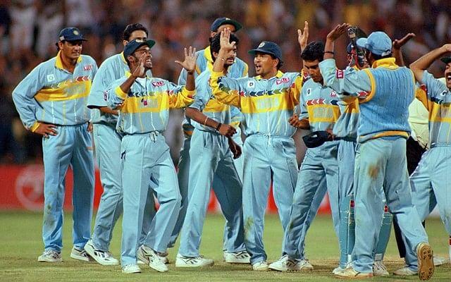 1995 में टीम इंडिया की जर्सी